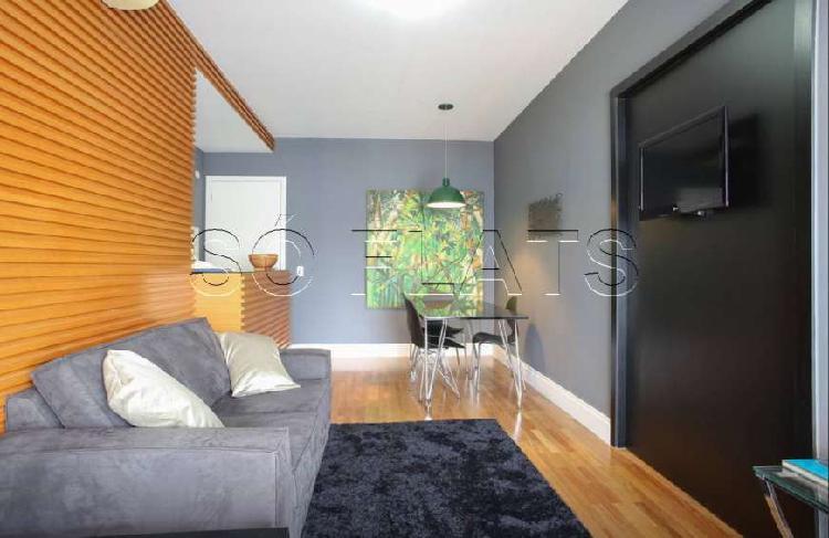Flat com 1 Quarto para Alugar, 46 m² por R$ 2.800/Mês COD.
