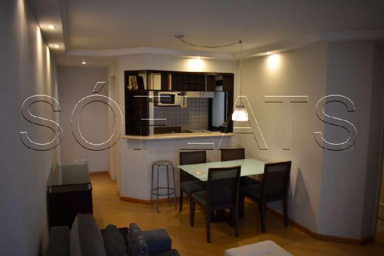 Flat com 2 Quartos para Alugar, 56 m² por R$ 3.660/Mês