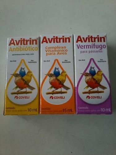 Kit Avitrin Antibiótico,vermifugo E Complexo Vitamínico