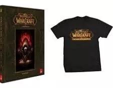 Livro Kit World Of Warcraft Crônica E Camiseta Capa Dura