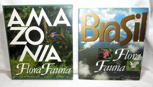 Lote 2 Livros Fotográficos: Amazonia E Brasil Flora E Fauna