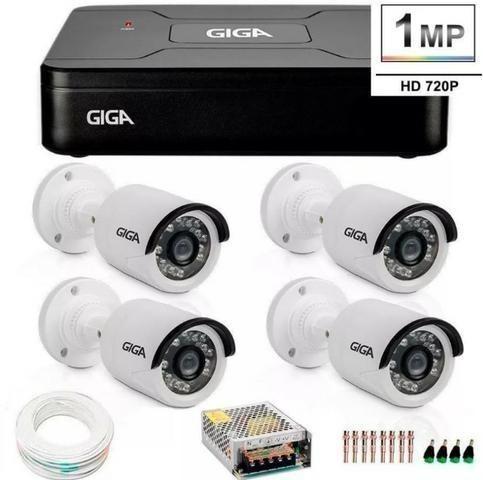Kit cftv 4 câmeras alta definição acesso remoto gratis