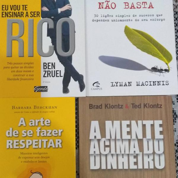 Lote de 4 livros, Novos ! Vida Financeira e Pessoal !