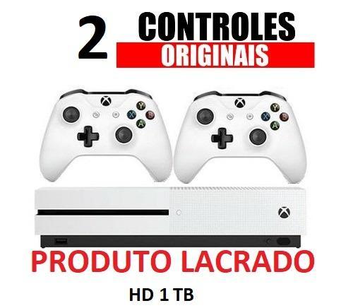 Xbox One S 1TB Original Novo Com Garantia e Controles Sem