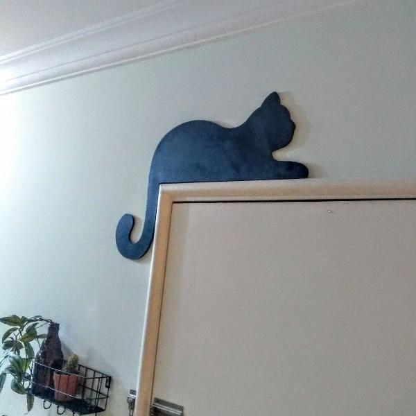fofinho gatinho de MDF para porta