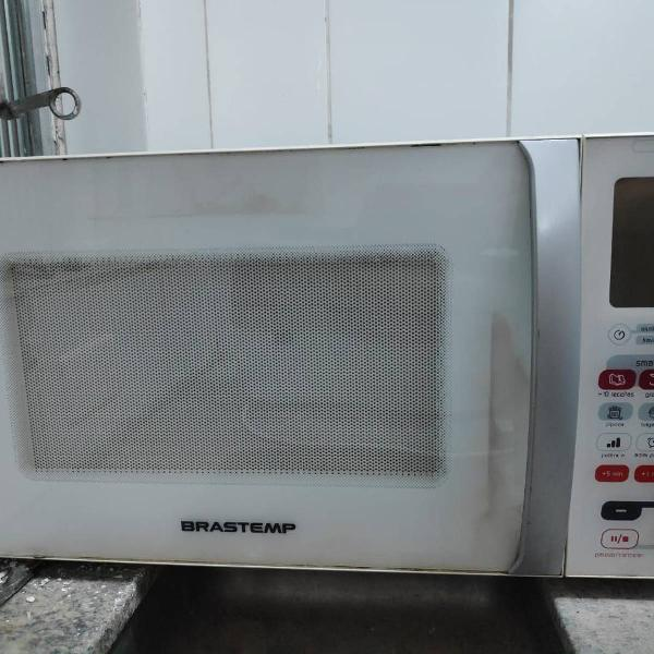 forno microondas brastemp bmf45 ative grill + smart food 30