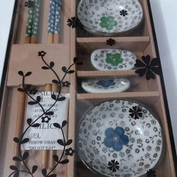 kit porcelana japonesa p/ 2 pessoas