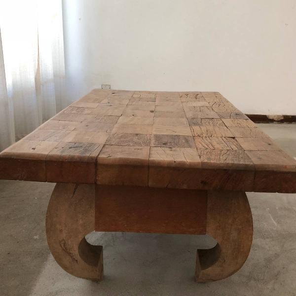 mesa de centro madeira demoliçao