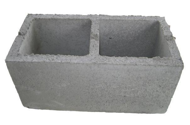 Bloco de concreto estrutural e vedação