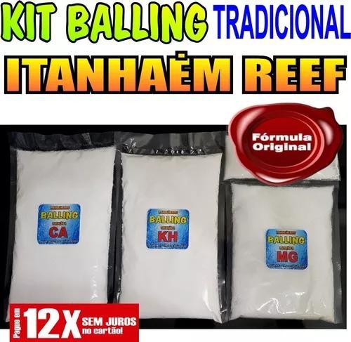 Kit Para Balling Tradicional Ca+kh+mg Faz 13,5 Litros