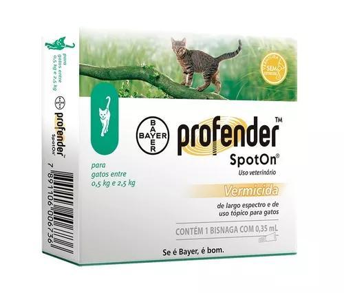 Profender Spoton Para Gatos De 0,5 Até 2,5kg 0,35ml