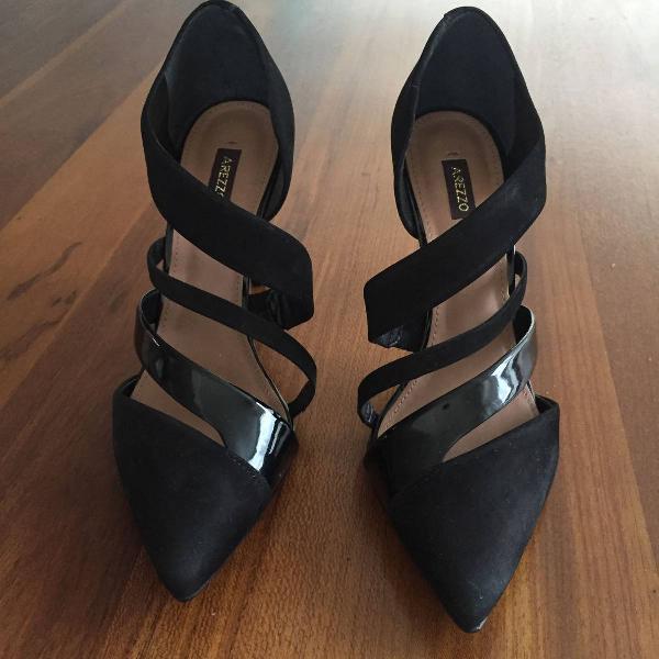 Sapato scarpin salto alto nobuc preto