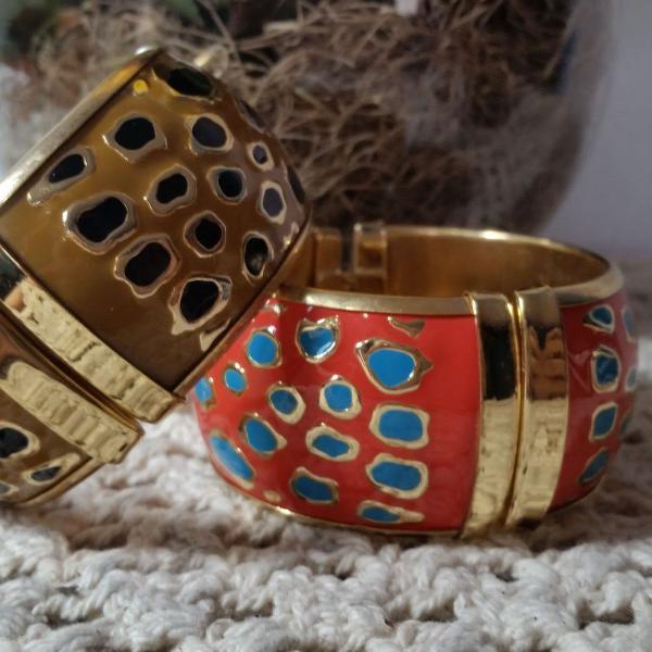 Braceletes de Metal Esmaltado