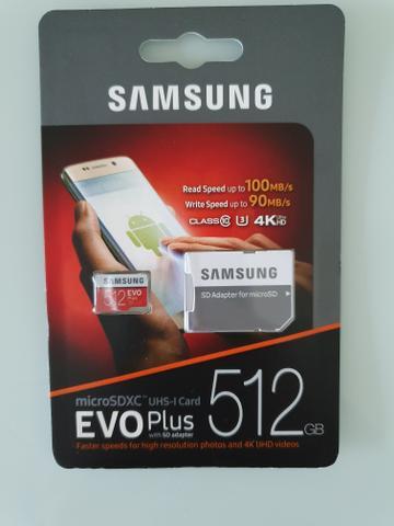 Cartão de Memória 512 GB Samsung EVO plus