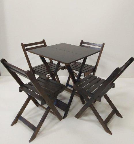 Conjunto Mesa e Cadeira - Madeira Macica - Direto da Fabrica
