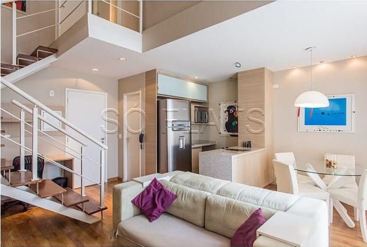 Flat com 2 Quartos para Alugar, 80 m² por R$ 6.150/Mês