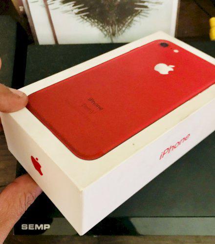 IPHONE 7 RED 128GB IMPECÁVEL COM CAIXA E ACESSÓRIOS BARATO
