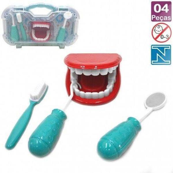 maleta kit dentista infantil - doutor dentinho - brinquedo