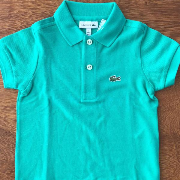 nova camisa polo lacoste infantil