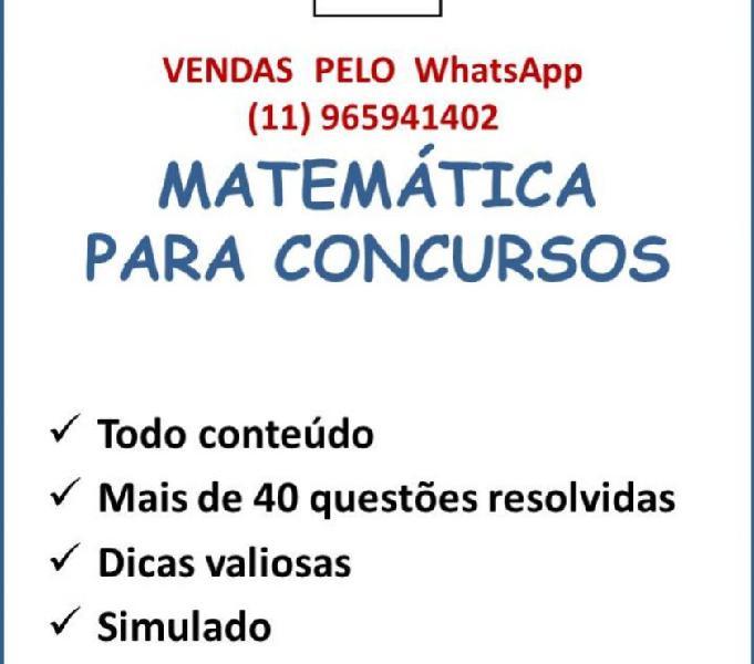 Apostila de Matemática para concursos públicos.