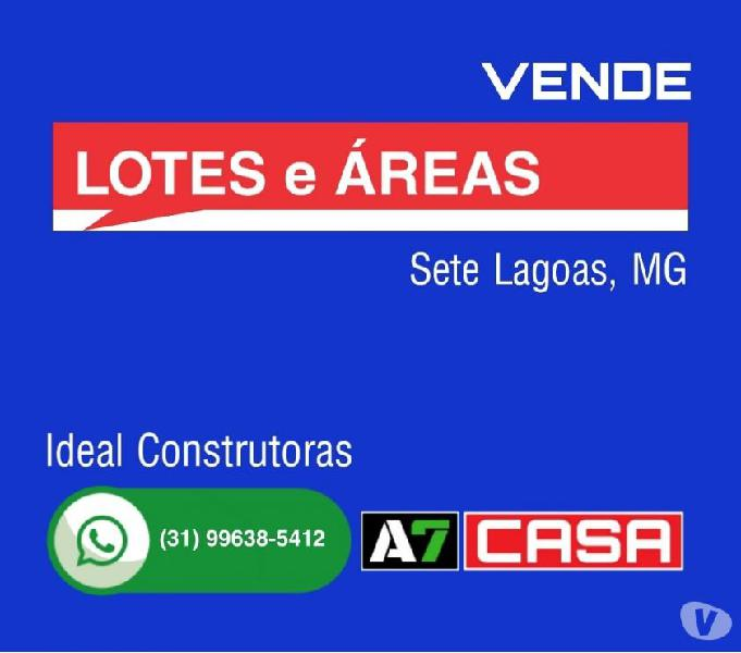 Vende Lotes e Áreas, 4 Km do Centro, Sete Lagoas, MG