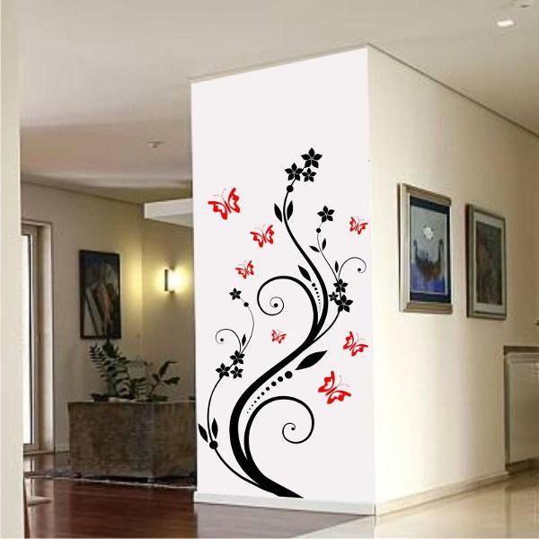 adesivo decorativo de parede arvore e borboletas sala quarto