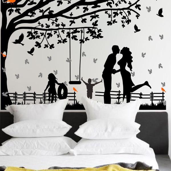 adesivo decorativo de parede gameleira namorados passaros