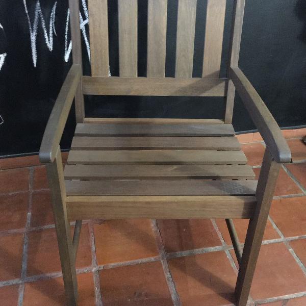 cadeira / poltrona em madeira maciça