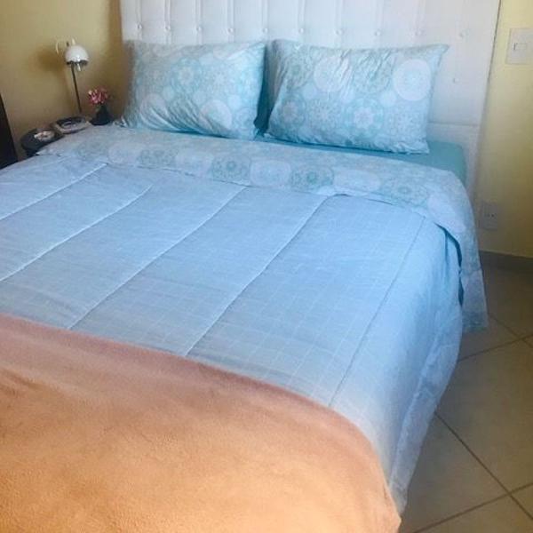 cama box + colchão queen size + cabeceira