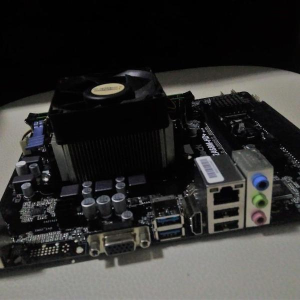 kit placa mãe, processador, memoria ram