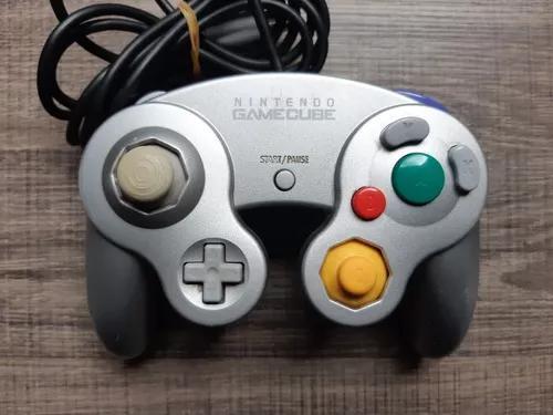 Controle Original Prateado Nintendo Game Cube Ref5742