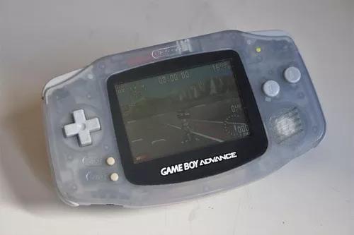 Game Boy Advance Translucido Tampa Rosa Brinde Jogo Moto Gp