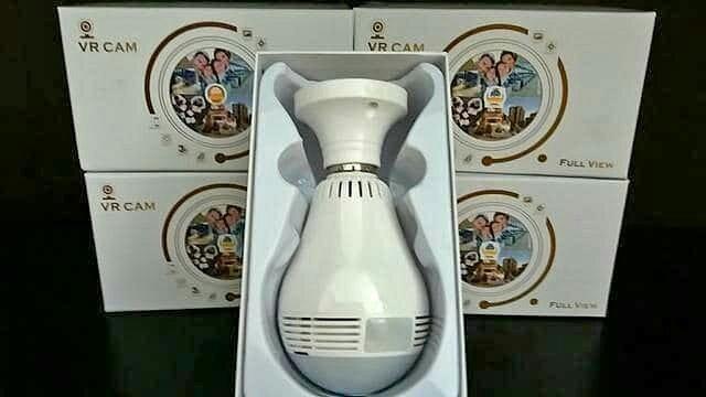 Lâmpada Câmera Ip Led Wifi Hd Panorâmica 360