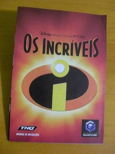 Manual Jogo Os Incríveis / Incredibles Original || Gc