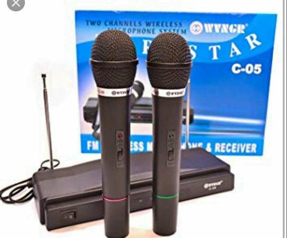 Microfone sem fio de 2
