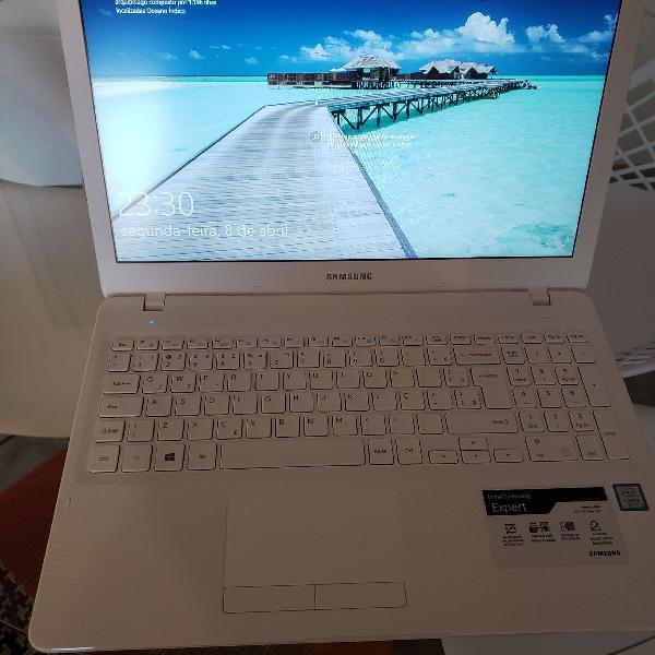 Notebook Samsung Branco com nota fiscal