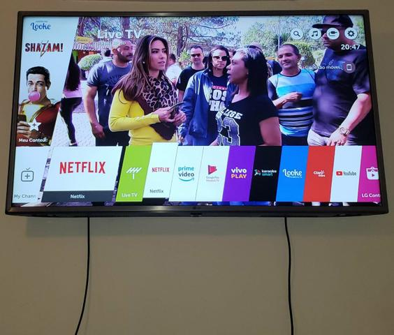 Tv lg led ultra hd 4k smart wi-fii 43 polegadas