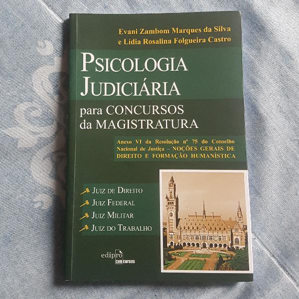 livro psicologia judiciária para concursos da magistratura