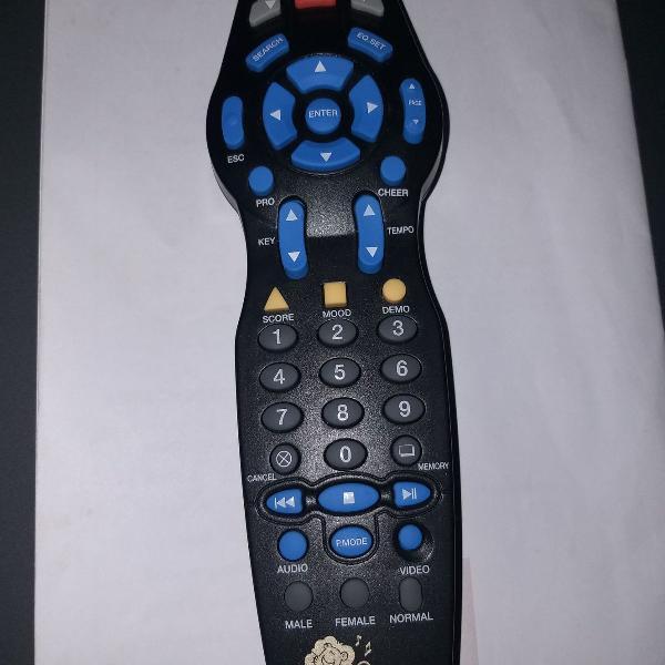 videokê raf 3700 controle remoto original