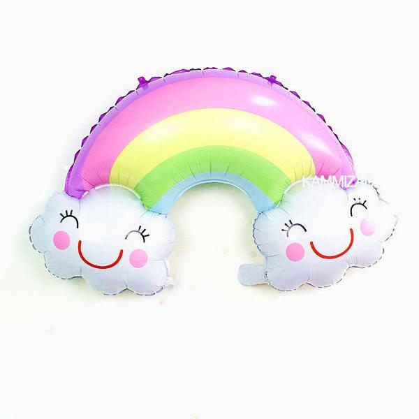 1 balão nuvem arco íris chuva de amor benção
