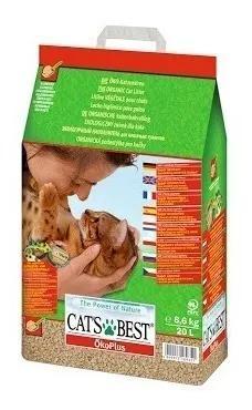Areia Sanitaria Higienica Cats Best Para Gato 8,6 Kg