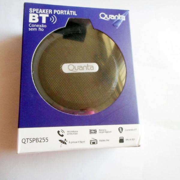 caixa de som portátil quanta speaker sem fio bluetooth
