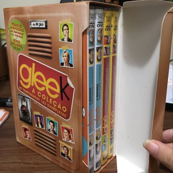 coleçao gleek box 1 e 2 temporada + glee the music vol 1 e