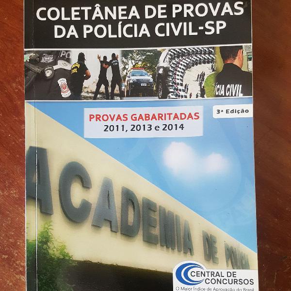 coletânea provas da polícia civil de são paulo