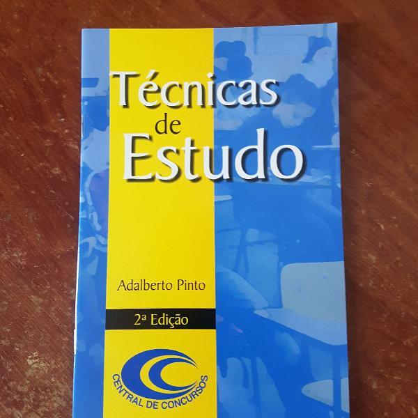 livro técnicas de estudo para concursos públicos