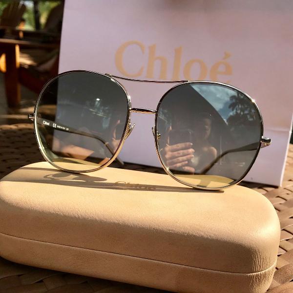 oculos de sol Chloe original case, sacola, dust. lente