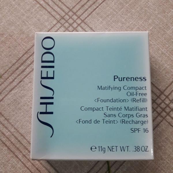pó compacto shiseido pureness - refil