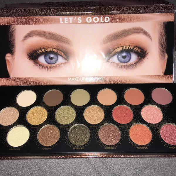 paleta de sombras da make up forever, lets gold. original e