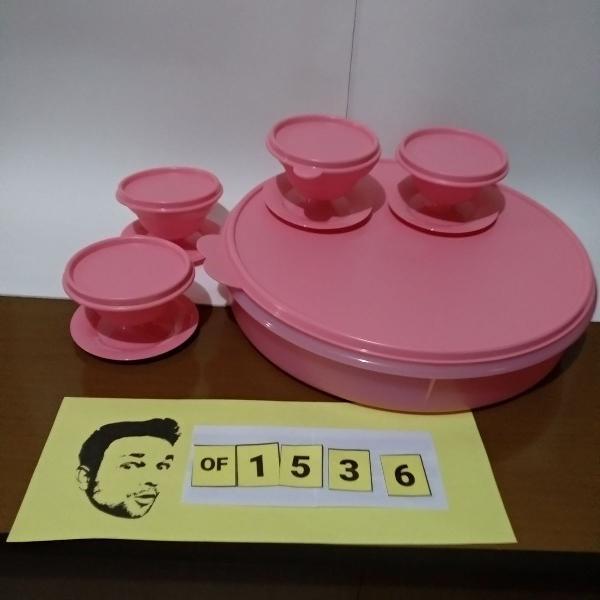 tupperware kit porta torta 3,7l + 4 tacinhas 130ml