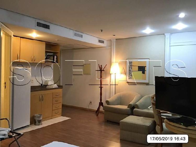 Flat com 1 Quarto para Alugar, 30 m² por R$ 1.820/Mês COD.